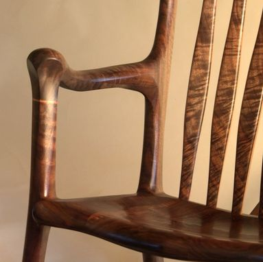 Custom Made Claro Walnut Rocker
