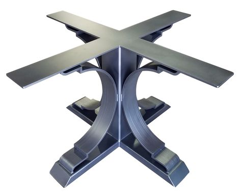 Custom Made Metal Table Base - Pedestal Style (Addison)