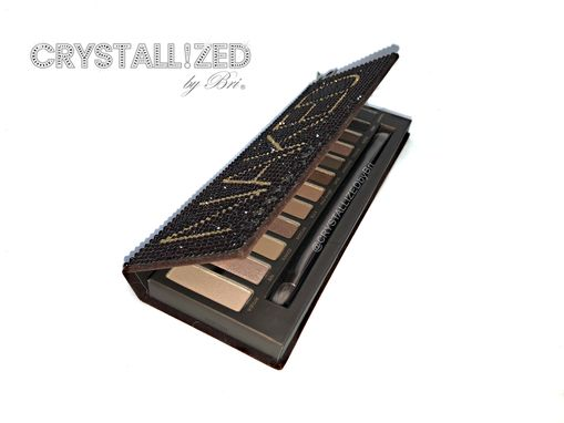 Custom Made Crystallized Urban Decay Naked Eyeshadow Palette Bling Makeup Swarovski Crystals Bedazzled