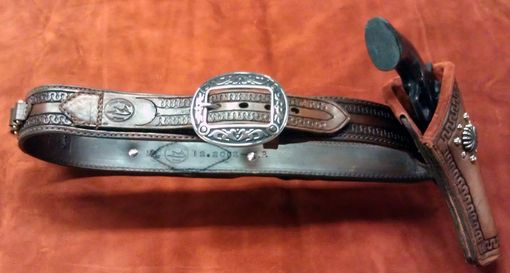 Custom Made Holster And Belt Running Carlos Border
