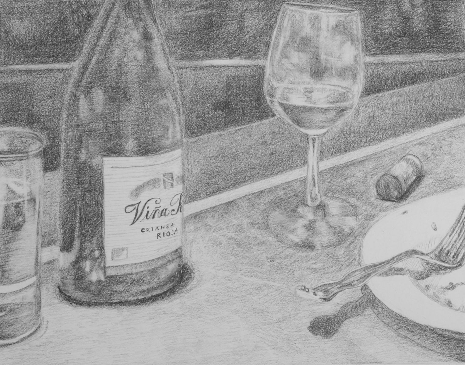 Hand Crafted Original Realistic Pencil Drawing 14x11