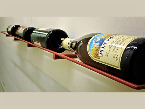 Custom Made Reclaimed Steel Wine Rack