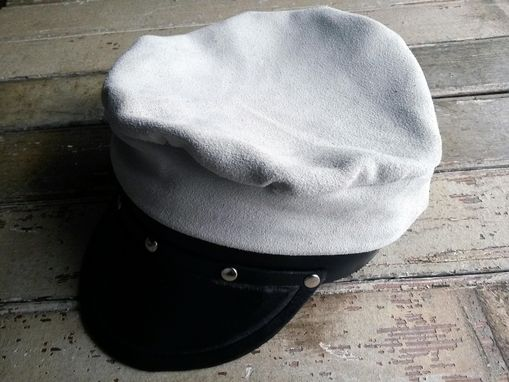Custom Made Grey Soft Leather Hat