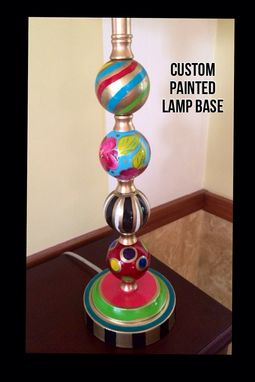Custom Made Custom Hand Painted Lamp Base Whimsical