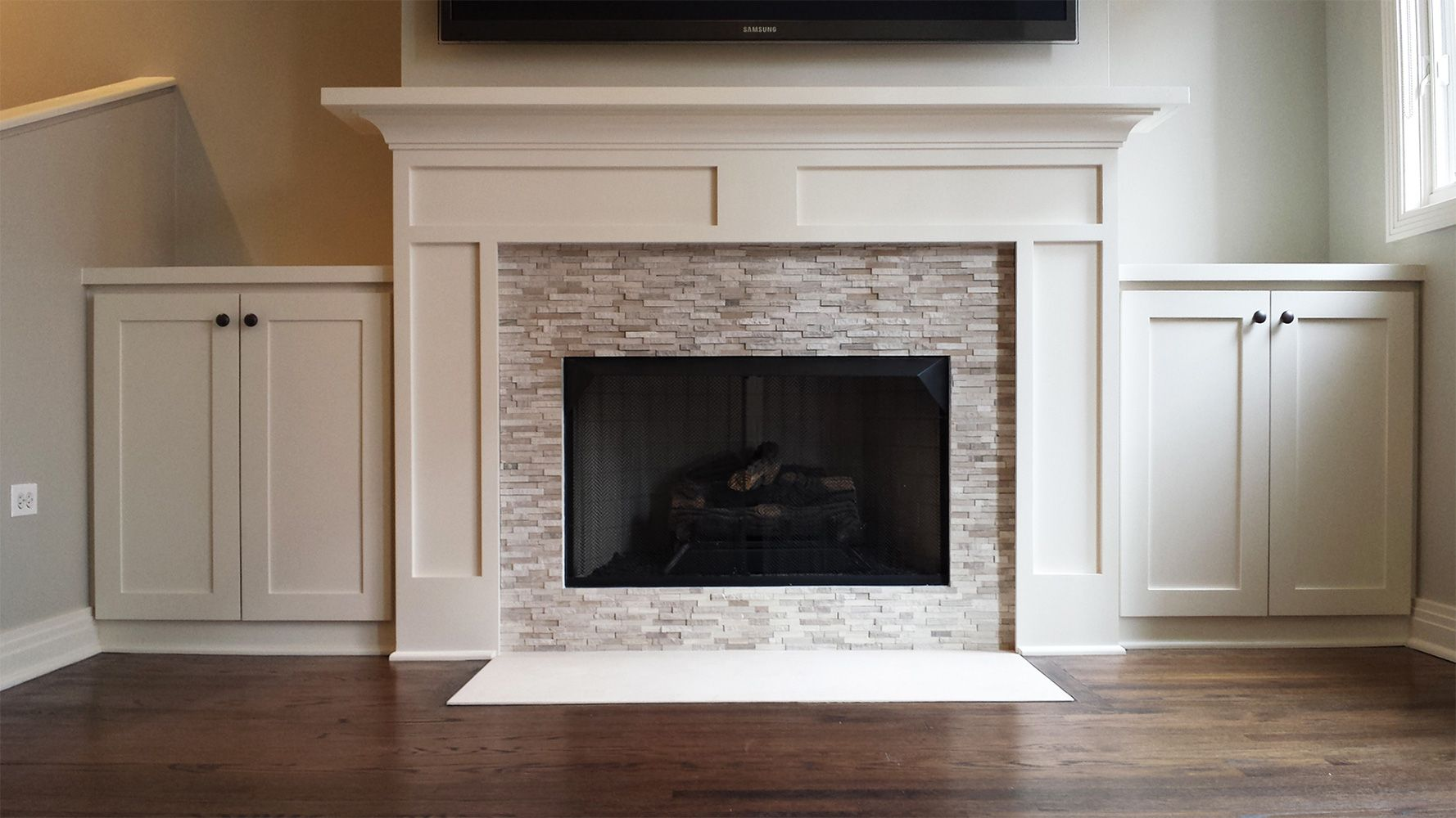 Custom Made Modern Clybourn Fireplace Mantel