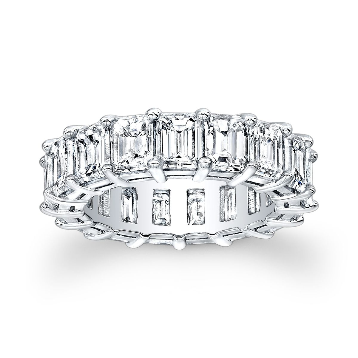 Hand Made Baguette Eternity Shared Prong Wedding Band by EVS ...