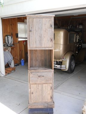 Custom Made Tall And Slim Storage Cabinet