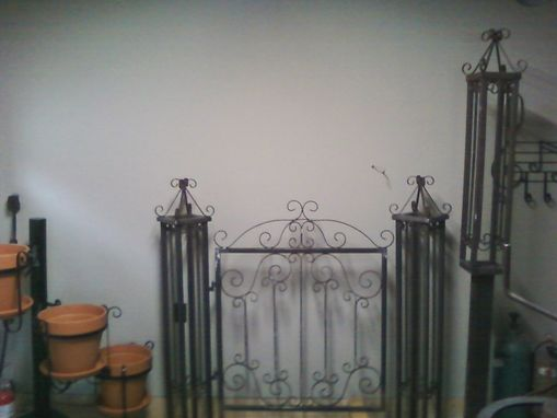 Custom Made Classic Gate And Post Design.