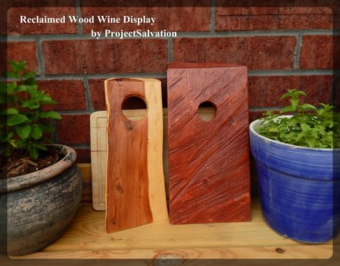 Custom Made Reclaimed Wood Wine Bottle Display