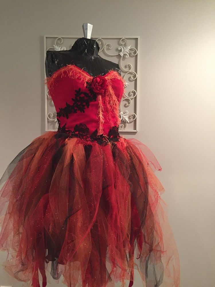 Custom Made Halloween Costumes | Custom Witch Devil Red Fairy Masquerade Halloween Costume By