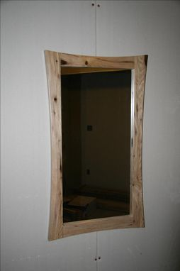 Custom Made Hickory Cuirved Edge Mirror