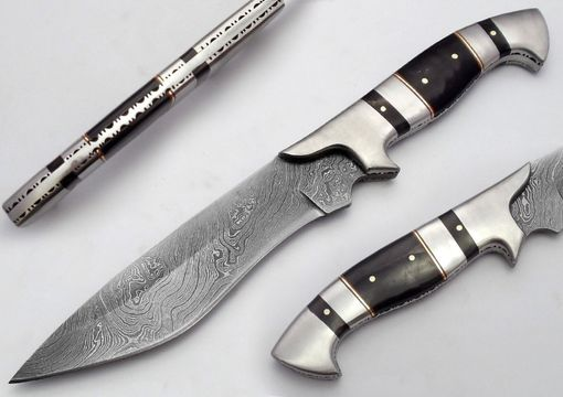 Custom Made Custom Made Damascus Hunting Knife