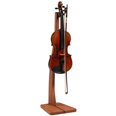 Custom Made Wooden Violin Stand - Mahogany, Walnut, Maple Or Cherry