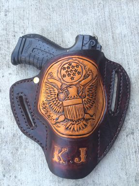 Custom Made Glock 19 Pancake Style Customized Leather Holster