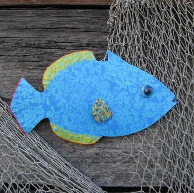 Custom Made Handmade Upcycled Metal Tropical Fish Wall Art Sculpture