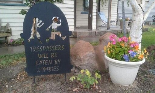 Custom Made Zombie Sign