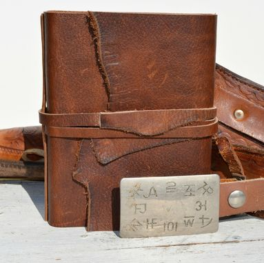 Custom Made Handmade Leather Bound Cowboy Journal Western Travel Diary Notebook