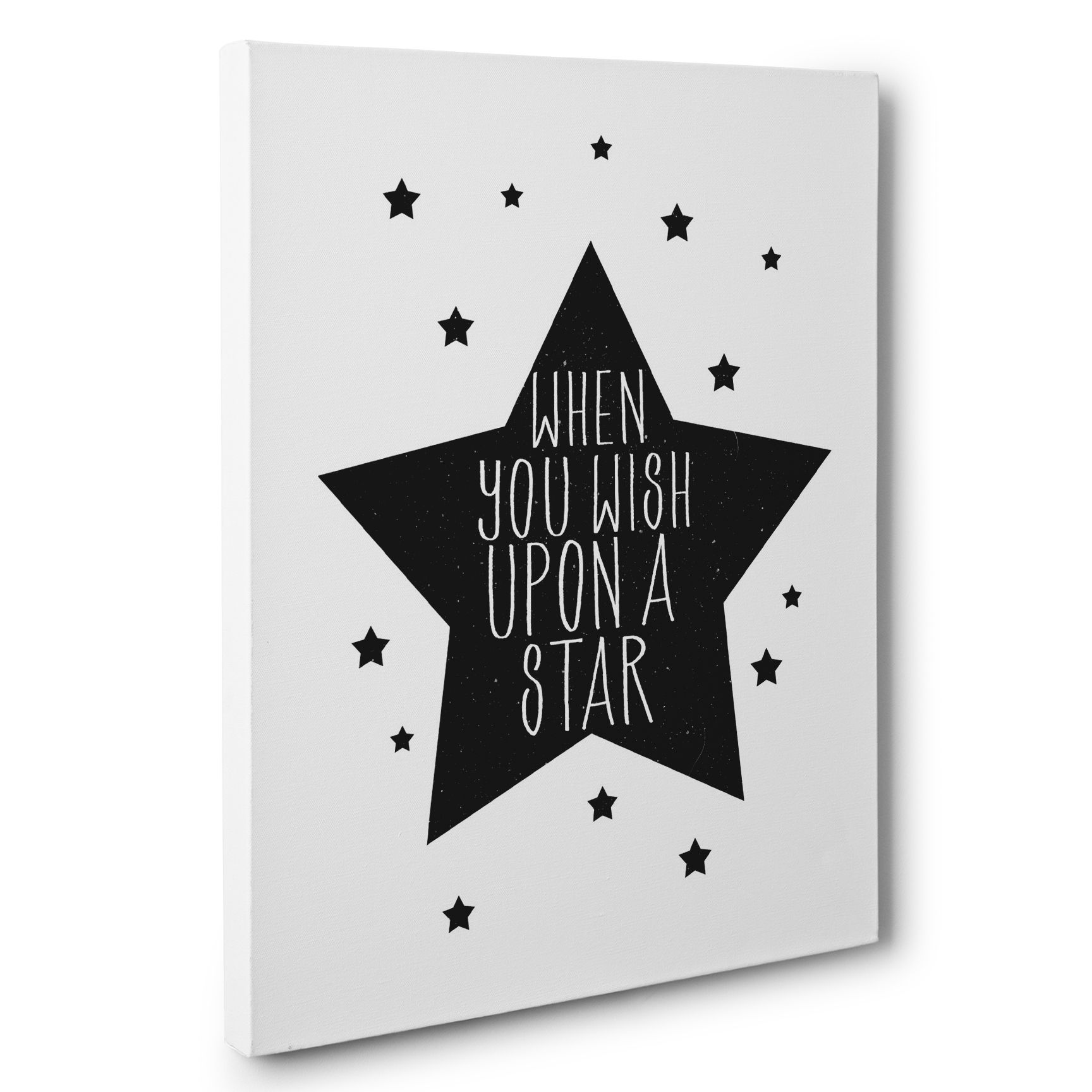 Buy Hand Made When You Wish Upon A Star Canvas Wall Art Made To Order From Paper Blast Custommade Com