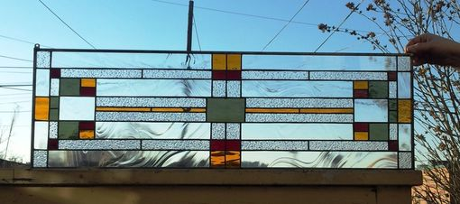 Custom Made Traditional Craftsman-Stained Glass Transom Window(Tw-109)