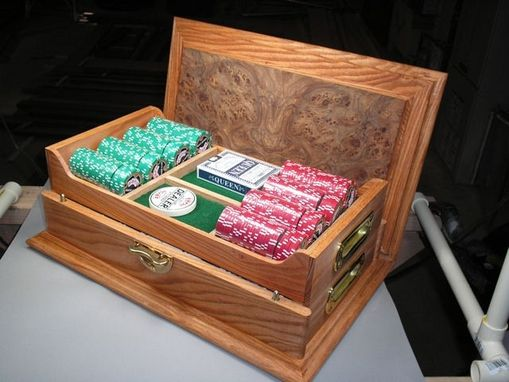 Custom Made Custom Made To Order Poker Case - Coffee Bean And Elm Burl