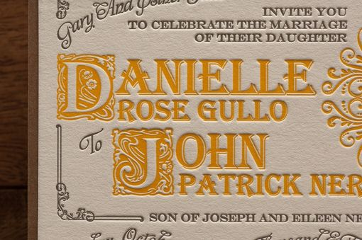 Custom Made Wedding Invitations - Vintage Apothecary