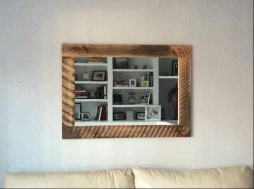 Custom Made Reclaimed Barn Wood Framed Mirror