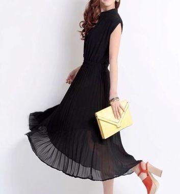 Custom Made Black Chiffon Dress