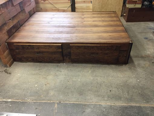Custom Made Queen Size Platform Bed With Storage