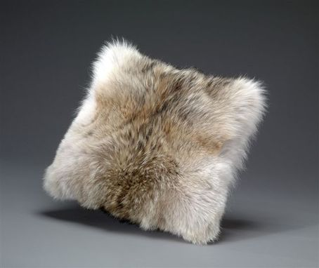 Custom Made Coyote Fur Pillow