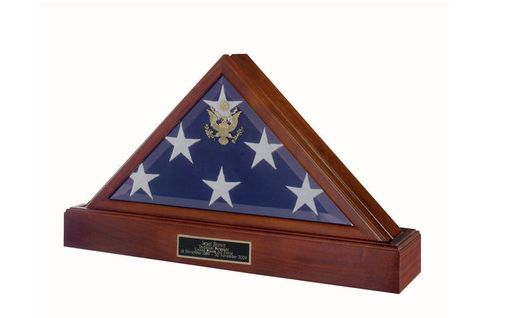 Custom Made Burial Flag Box - Burial Flag Case