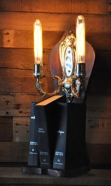 Custom Made Steam Punk Desk Lamp Fantasy Gothic Twilight Book Light With Secret Magic Swtich