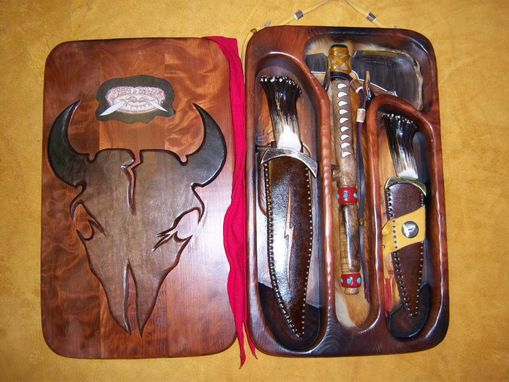 Custom Made John Colter blades display unit