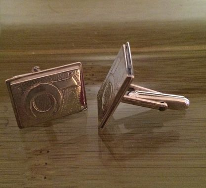 Custom Made Sterling Silver Cuff Links With Your Logo