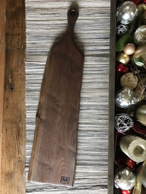 Custom Made Ships Immediately- The Sophia - Baguette Walnut Cutting/Serving Board With Long Handle