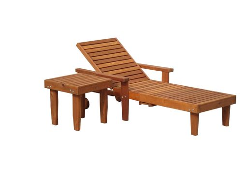 Custom Made Best Redwood Single Summer Chaise Lounge
