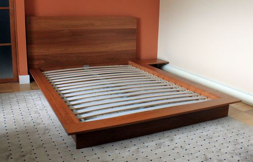 Custom Platform Bed With Integrated Night Stand Solid