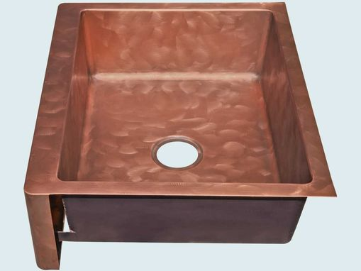 Custom Made Copper Sink With Apron & Butterfly Finish