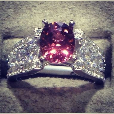 Custom Made Custommade Tourmaline And Diamond Ring
