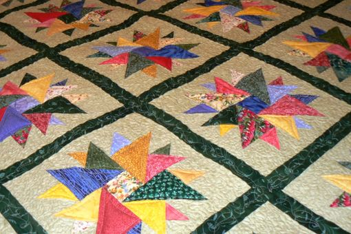 Custom Made Diamonds In The Rough Queen Size Quilt