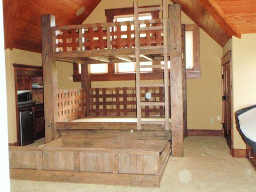 Custom Made Full Size Bunk Bed With Hidden Trundle