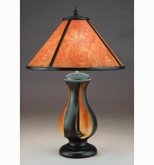 Custom Made Maurits Table Lamp With Translucent Wood Shade