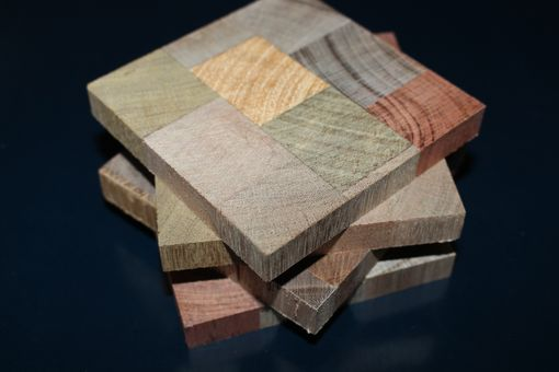 Custom Made Reclaimed Wood Coasters: Stained Or Unfinished