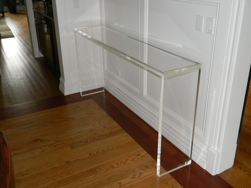Custom Made Acrylic Entryway / Console Table In 1.5