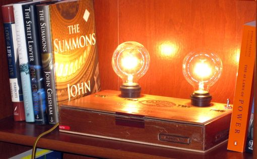 Custom Made Cigar Box Desk Lamp: Padron