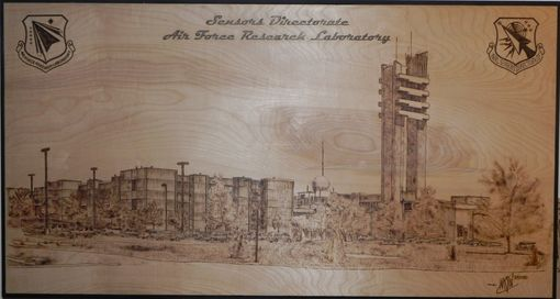Custom Made Burned Pyrography Mural