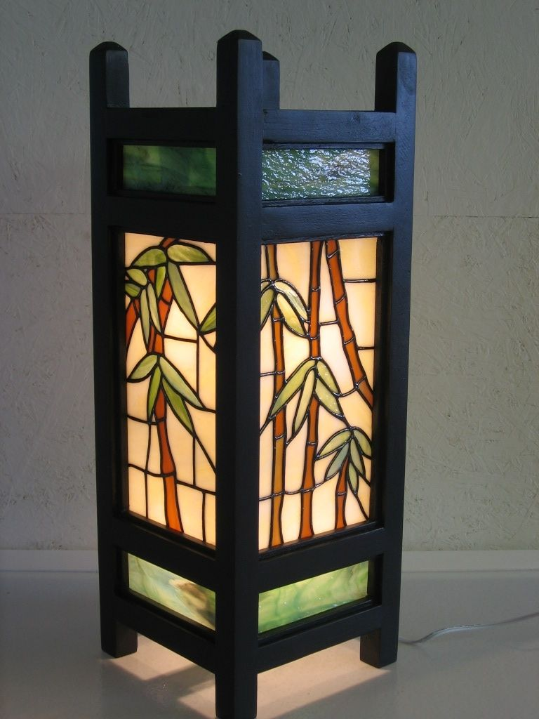 Handmade Asian Style Lantern By Serenity Stained Glass