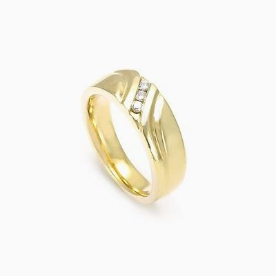 Custom Made Men S Diamond Wedding Band In 14k Yellow Gold 3
