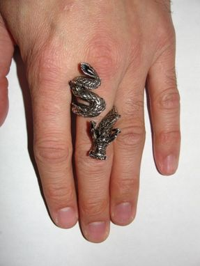 Custom Made Chinese Dragon Cocktail Ring Unisex