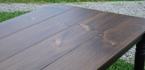 Custom Made 5 Foot Farm Table With Aged Top