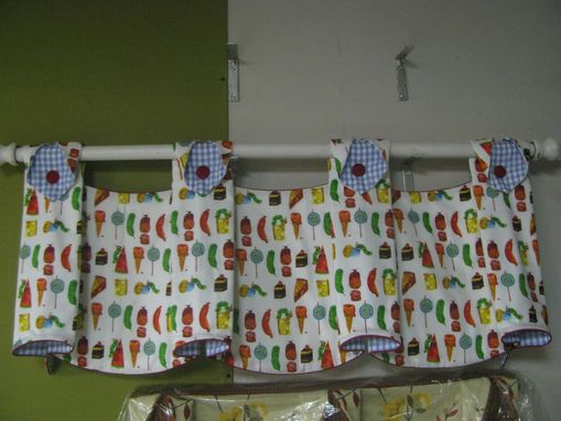 Custom Made Valance And/Or Curtains Based On The Very Hungry Caterpillar